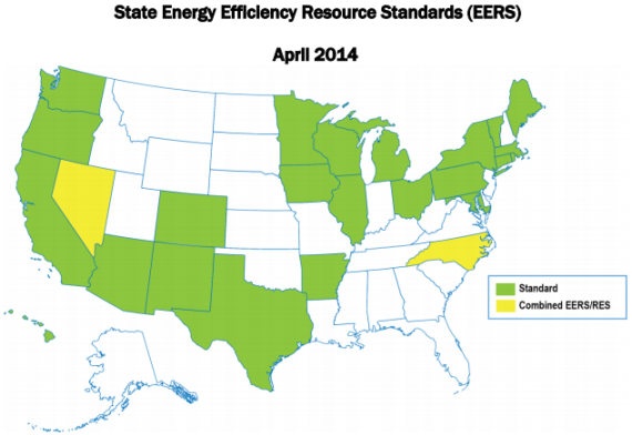 26 States With Energy Efficiency Targets