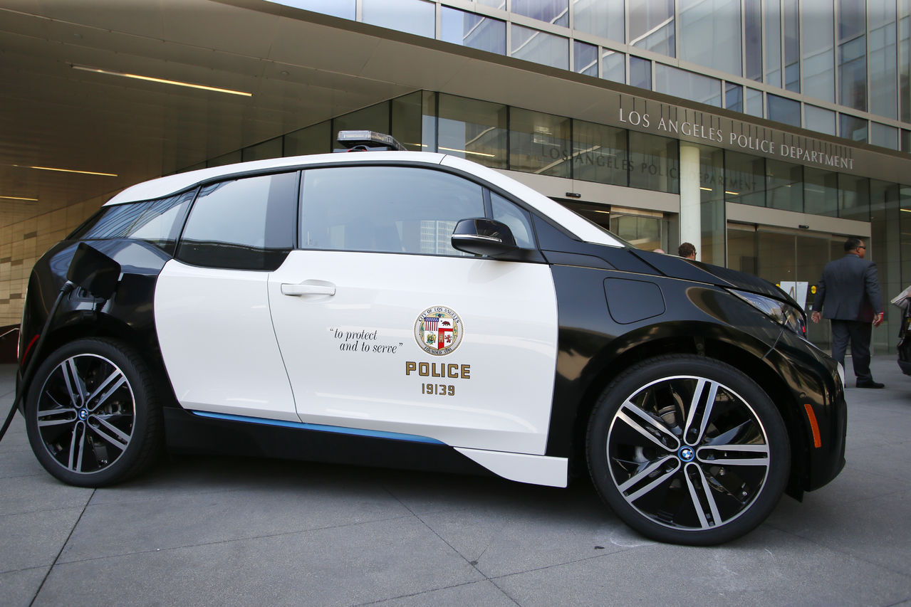 lapd s new bmw i3 amp tesla model s electric cars pictures